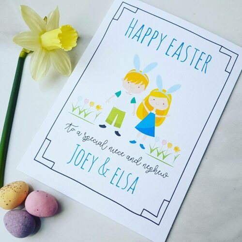 Personalised Children's Easter Card