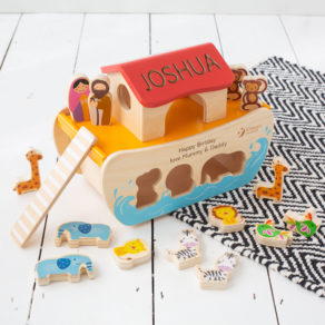 Personalised Noah's Ark Wooden Toy