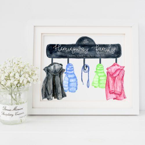 Personalised Family Coat Print