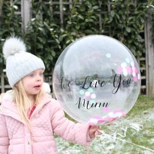 Love You Personalised Confetti Balloon