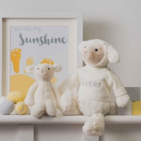 Personalised White Bashful Lamb Soft Toy