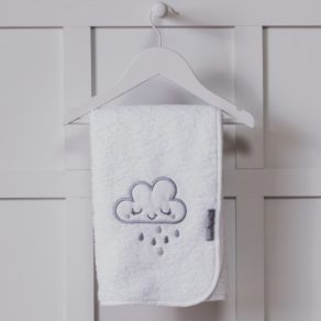 Personalised Cloud Design White Embroidered Towel