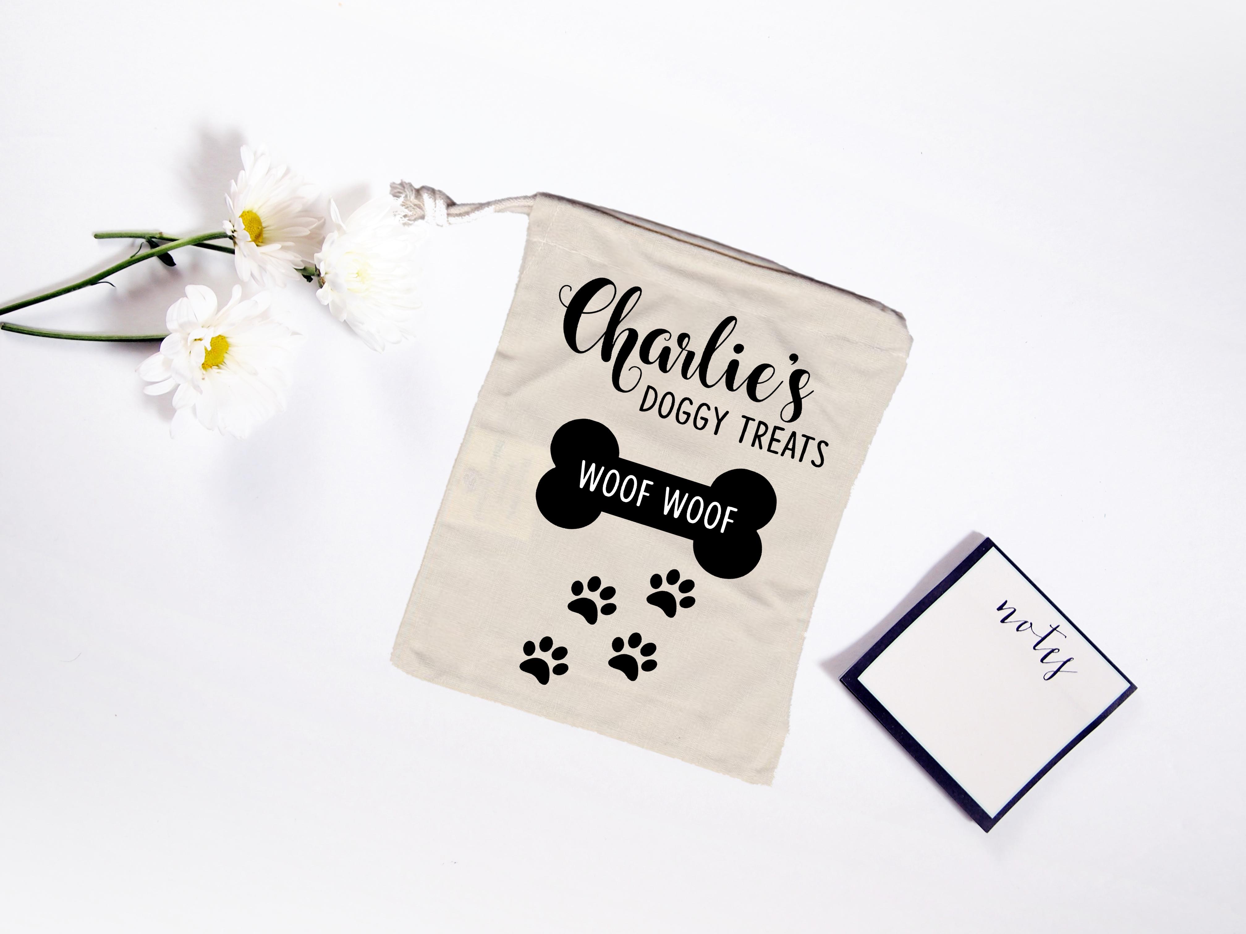 Personalised Dog Treat Bag