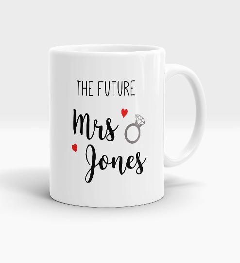 Personalised Future Mrs Mug