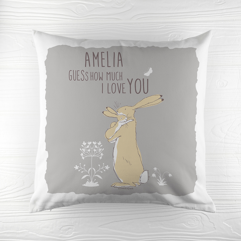 Personalised Guess How Much I Love You Cushion Cover Love Unique