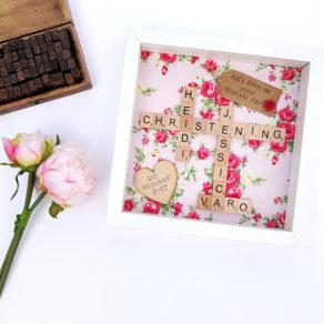 Personalised Christening Scrabble Frame Gift