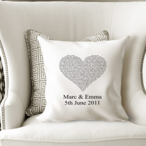 Personalised Wedding Cushion Cover