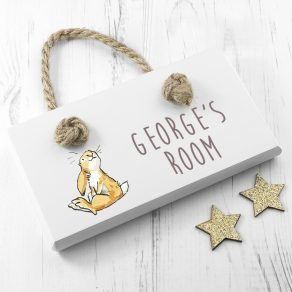 Personalised Guess How Much I Love Sitting Little Nutbrown Hare Door Sign
