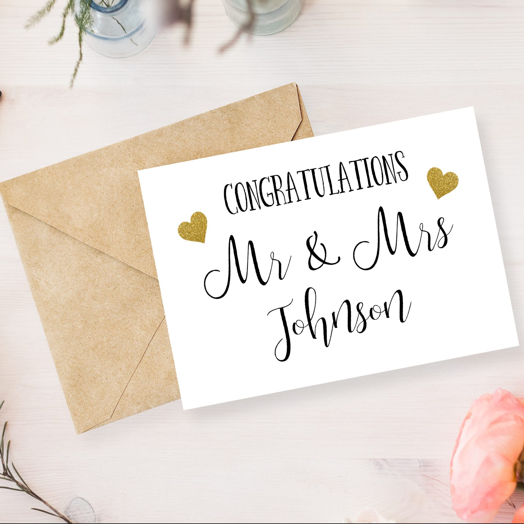 Wedding Gifts Mr And Mrs: Congratulations Mr & Mrs Greetings Card