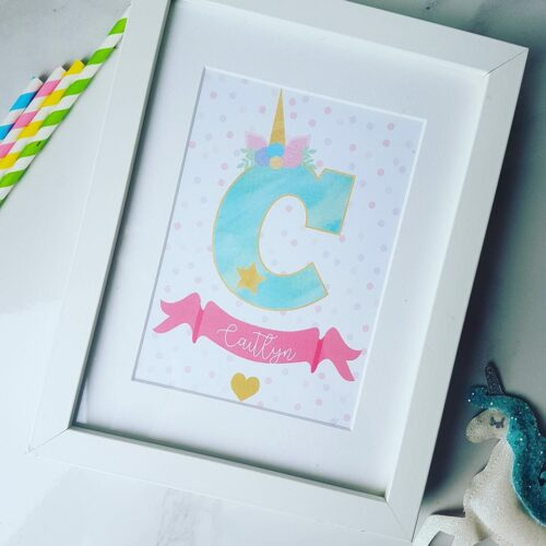Personalised Unicorn Alphabet Print