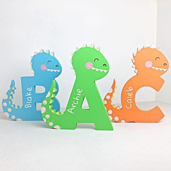 Personalised Freestanding Dinosaur Letter