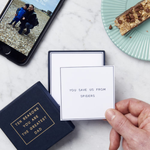 Personalised 'Ten Reasons You Are The Greatest Dad' Box