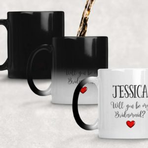 Personalised Bridesmaid Proposal Reveal Mug