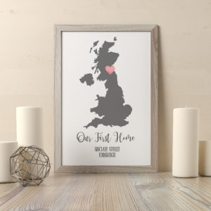 Personalised UK Destination Foil Print