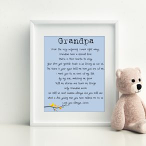 Fathers Day Personalised Special Poem Print