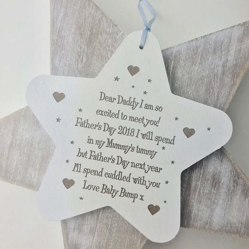 Super So Excited To Meet You Daddy On Father's Day Star | Love Unique  EE24