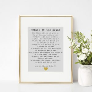 Personalised Mother of the Bride Print