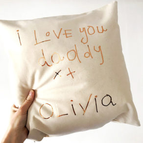 Personalised Child's Drawing Cushion Cover
