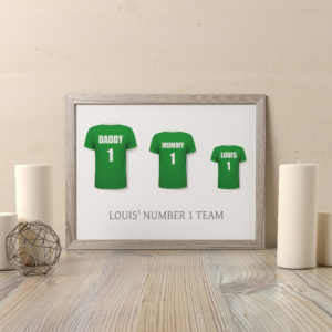 Personalised Football Shirt Family Print