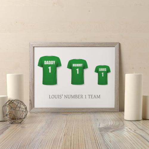 Personalised Football Shirt Family Print
