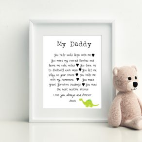 Father's Day 7 Favourite Things About You Personalised Print