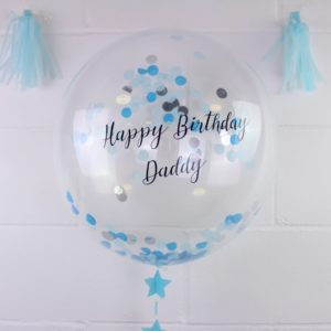 Personalised Blue Confetti Balloon