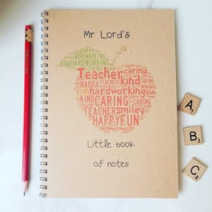 Personalised Teacher Apple Notebook