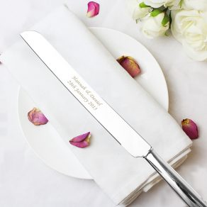 Personalised Heart Cake Knife