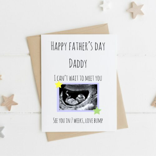 Father's Day Scan Photo Personalised Card