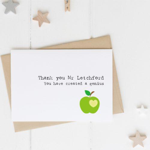 'Genius' Teacher card