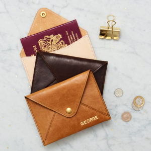 Personalised Genuine Leather Passport Cover