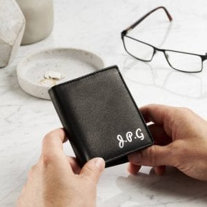 Personalised Initials Genuine Leather Wallet