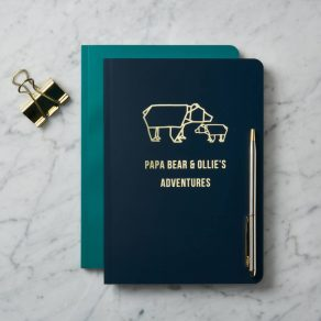 Personalised Papa Bear's Family Notebook