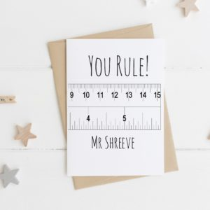 Personalised 'You Rule' Teacher Card