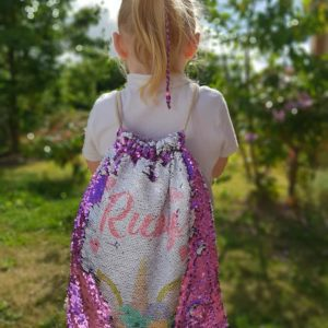 Personalised Sequin Drawstring Bag