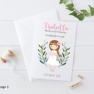 Personalised Wedding Flower Girl Card