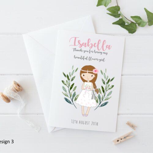 Personalised Wedding Flower Girl Card