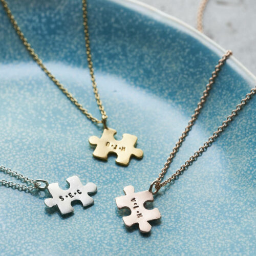 Personalised Mini Jigsaw Necklace