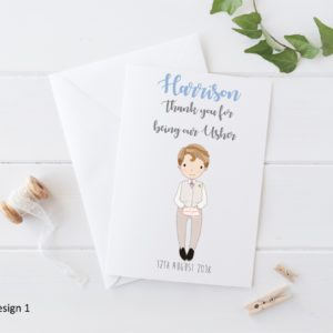 Personalised Wedding Page Boy Card