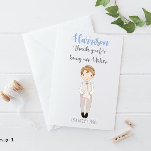 Personalised Wedding Page Boy Card