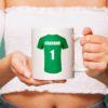 Personalised Football Shirt Mug