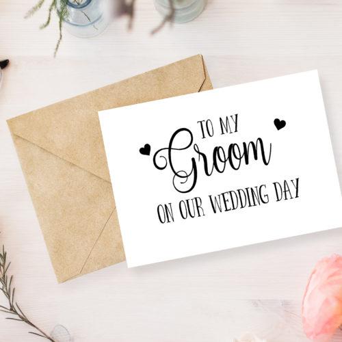Personalised Groom Greetings Card