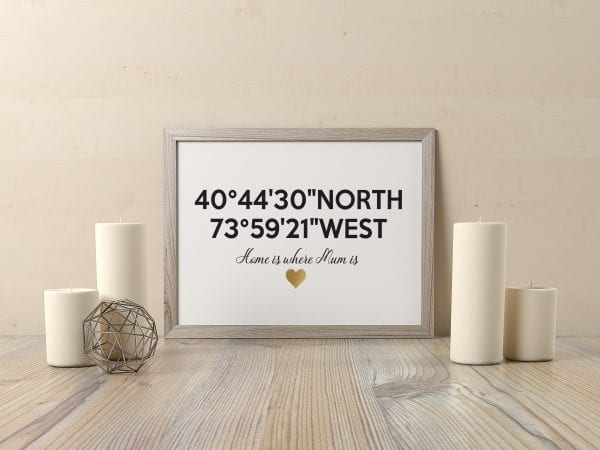 Personalised Special Place Coordinates Print