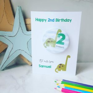Dinosaur Birthday Badge Card