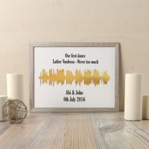 Personalised Sound Wave Print