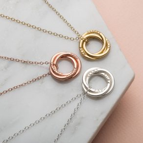 Personalised 9ct Gold Russian Ring Necklace