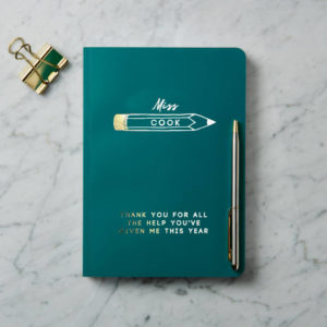 Personalised Gold Foil Teacher Notebook