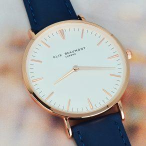 Personalised Elie Beaumont Modern Vintage Leather Watch