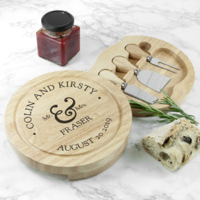 Mr and Mrs Classic Personalised Cheese Board Set