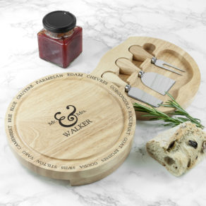 Connoisseur Mr and Mrs Personalised Cheese Board Set